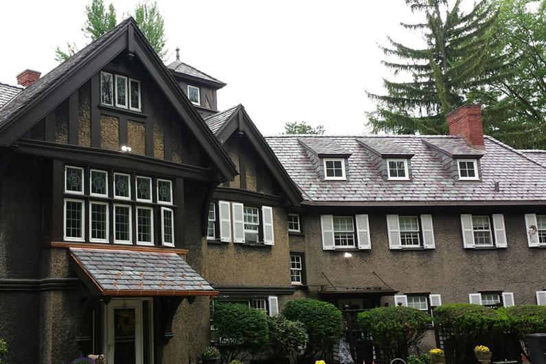 Vermont Mottled Purple Random Width Slate Roof