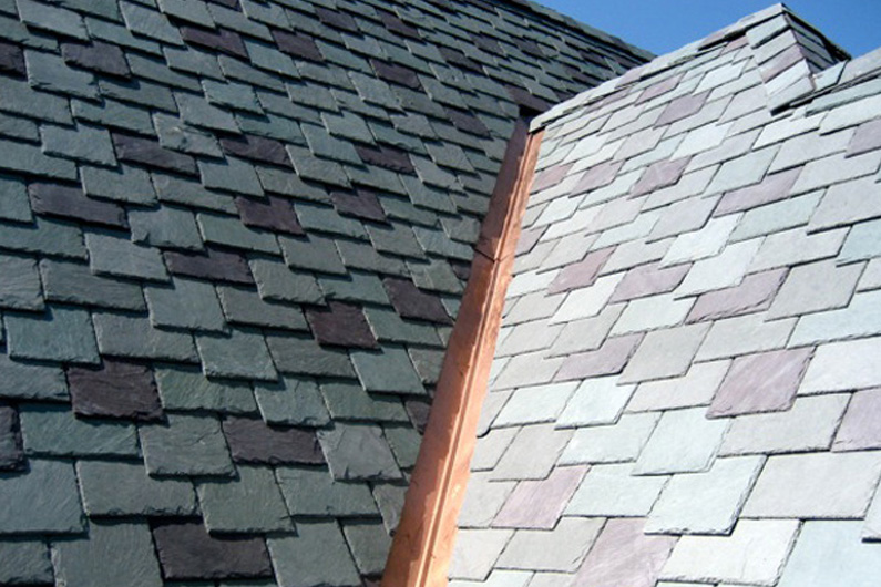 Traditional Slate Roof With Copper Accents Vermont Slate