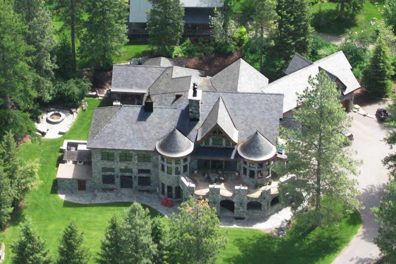 Stone and Slate Estate - Aerial view