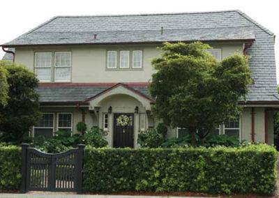 Stucco Home with Heavy Grade Slate Roof