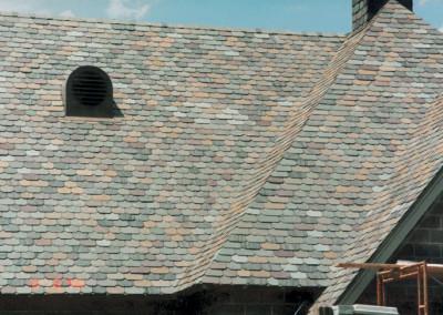 Clipped Corner Slate Roof