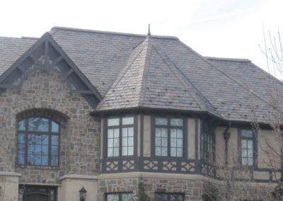 Architectural Grade Slate on a Tudor Revival Style House