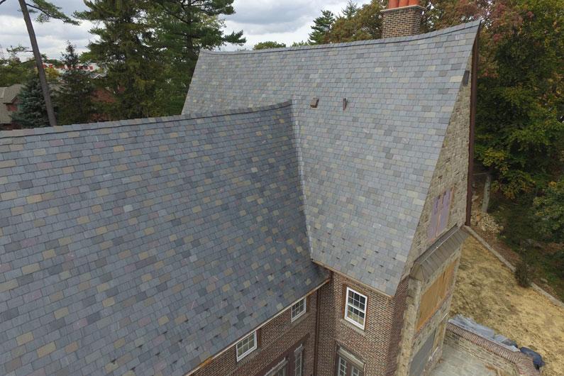 New York Residence with Random Width Slate Roof