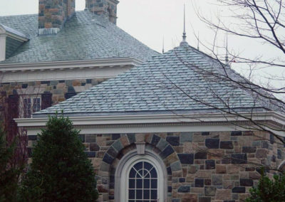 Slate Roof Complementing Stone Façade