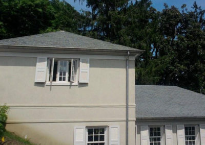 Non-Fading Gray Slate on Low Slope Roof