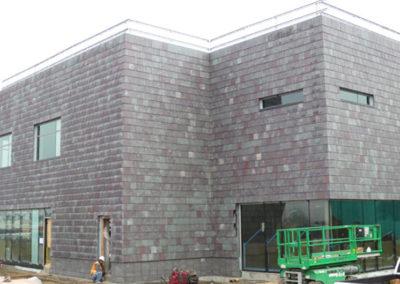 Nu-Lok Slate Cladding Installation on Medical Building