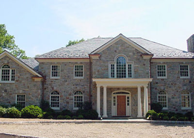 Slate and Stone Colonial Style home