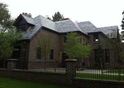 Asphalt roof replaced with SlateTec Installed Vermont Slate Blend