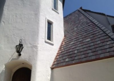 Slate Roof Using SlateTec Reduced Weight Slate Installation System