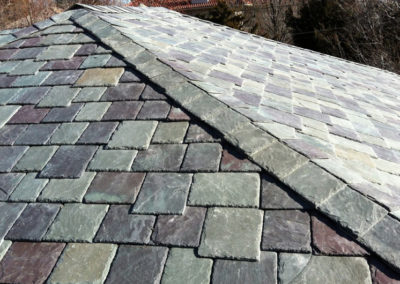 Vermont Slate Roof Blend Installed Using the SlateTec Slate Roof System