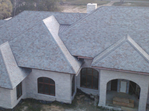 Four color slate blend roof in Florida