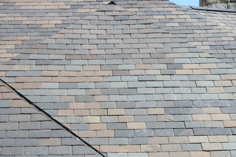 Historic vermont blend slate roof vermont slate roofs for Vermont slate colors