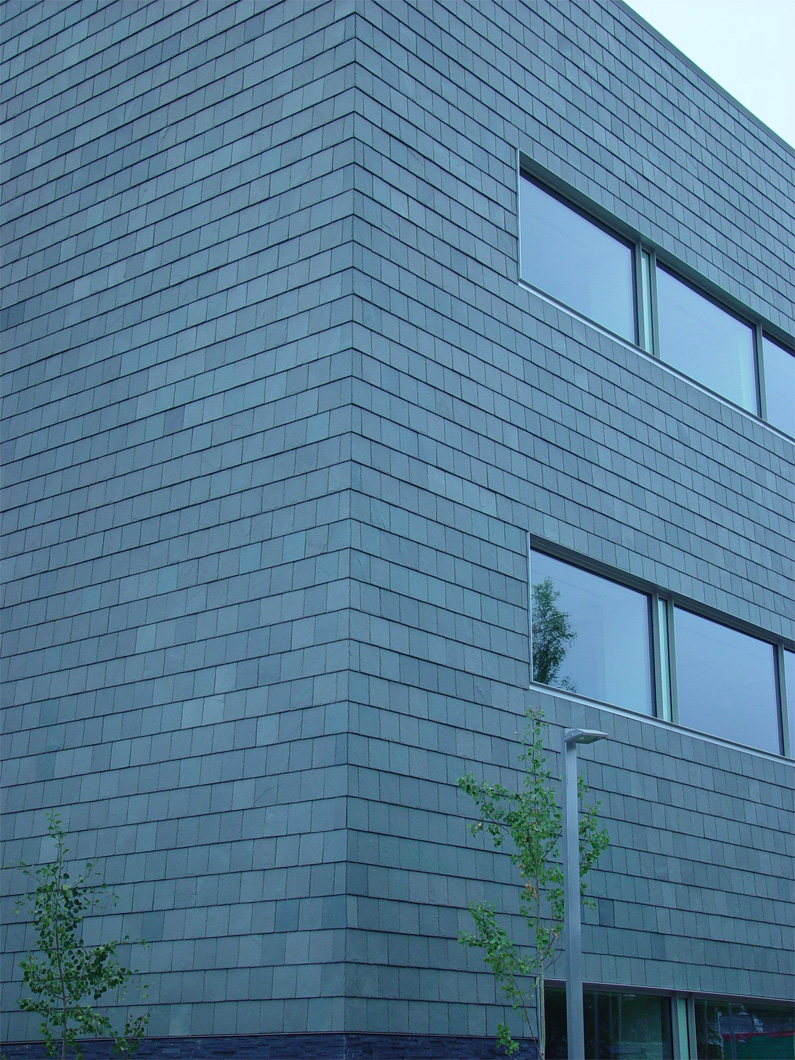 Vermont slate cladding on University of Alaska