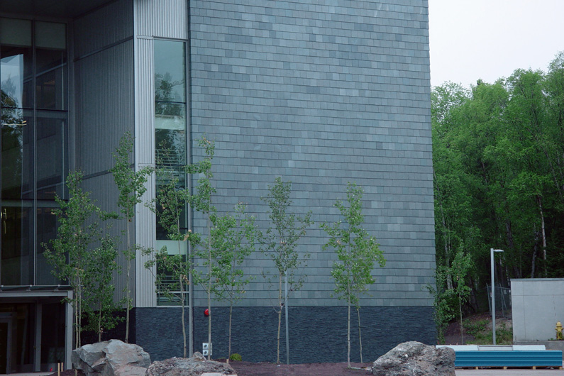 Slate cladding - University of Alaska's Integrated Science Building