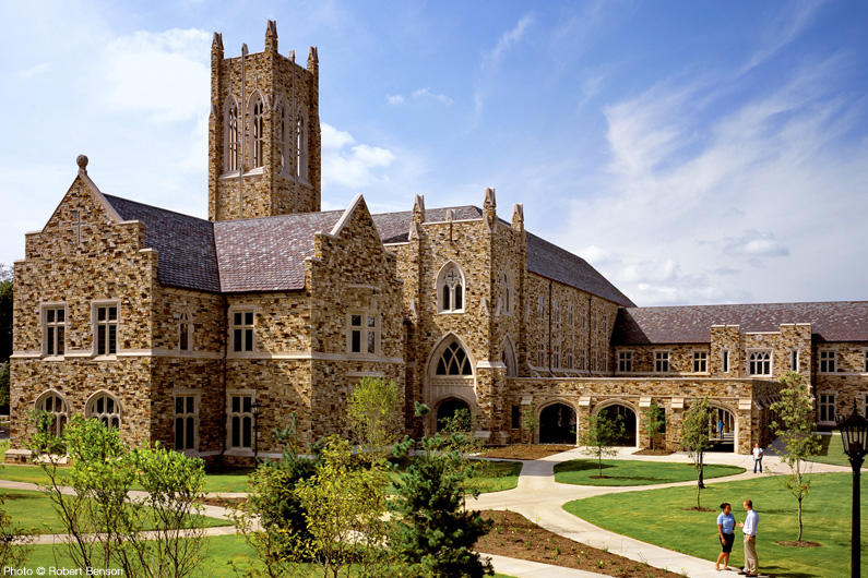 Barret Library at Rhodes College, Memphis - natural slate roof