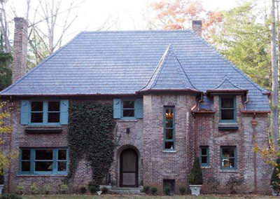 Country brick and Vermont black slate residence