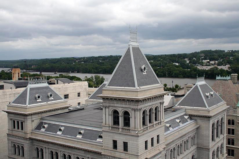 University administrative building with Vermont Clear Black slate roof