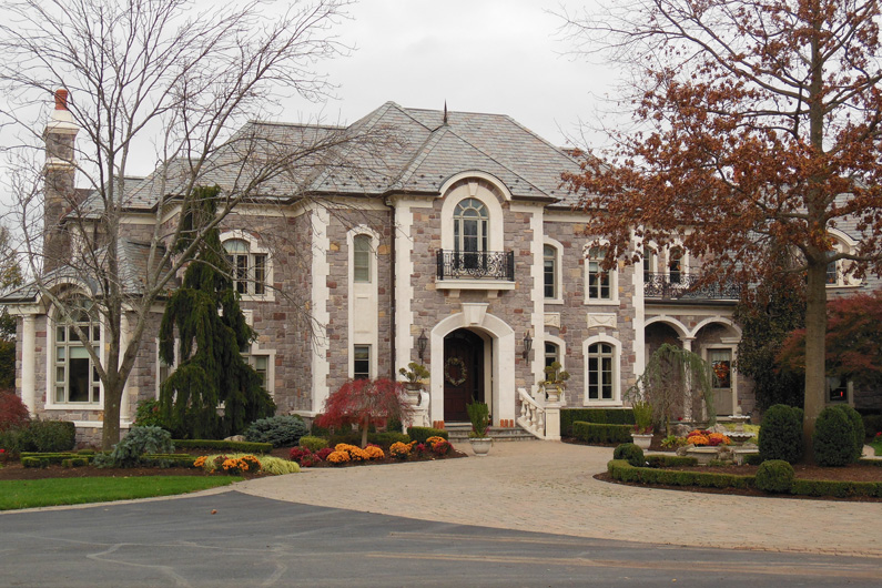 Grand Residence with genuine slate roof in New Jersey