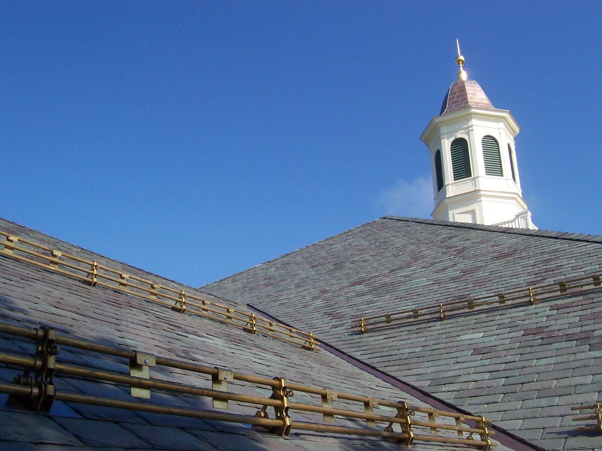 Vassar College - slate roof Non-weathering Mottled Green / Purple slate