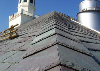 Mottled Green / Purple Slate Roof