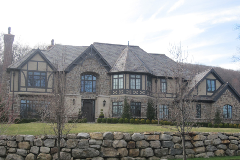 Architectural Grade slate used on this Tudor Revival style residence