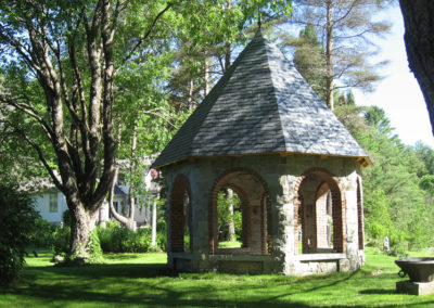 Stone Gazebo with Slate Roof