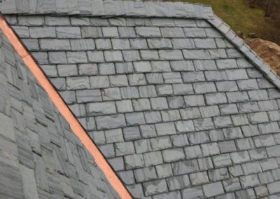 Slate Roof with Copper Flashing