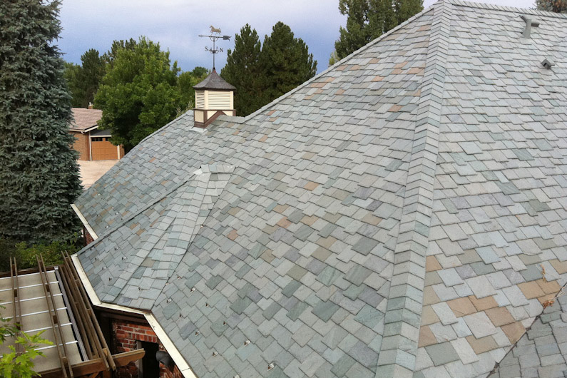 Cedar Shake Replacement Using Genuine Vermont Slate And