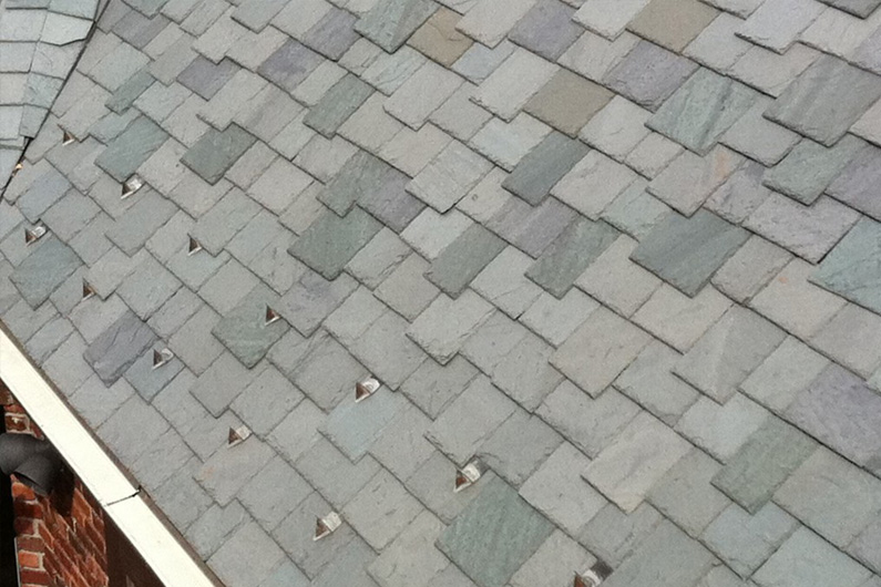Cedar Shake Replacement Using Genuine Vermont Slate