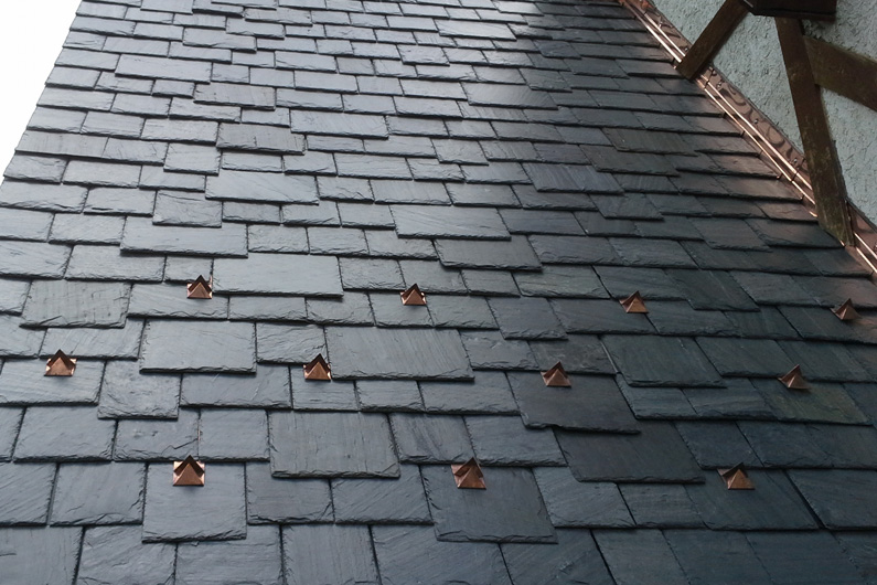 Cedar Shake Roof Replaced With Genuine Slate Using Slatetec