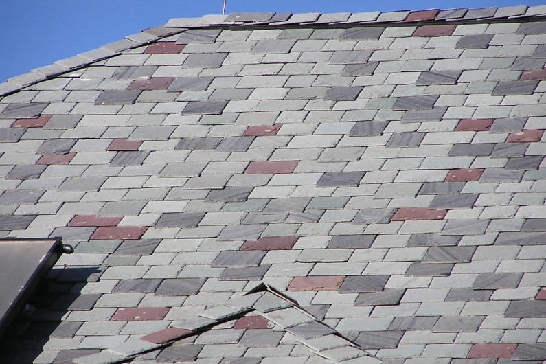 Genuine Vermont Slate Roof Color Blend Installed Using SlateTec