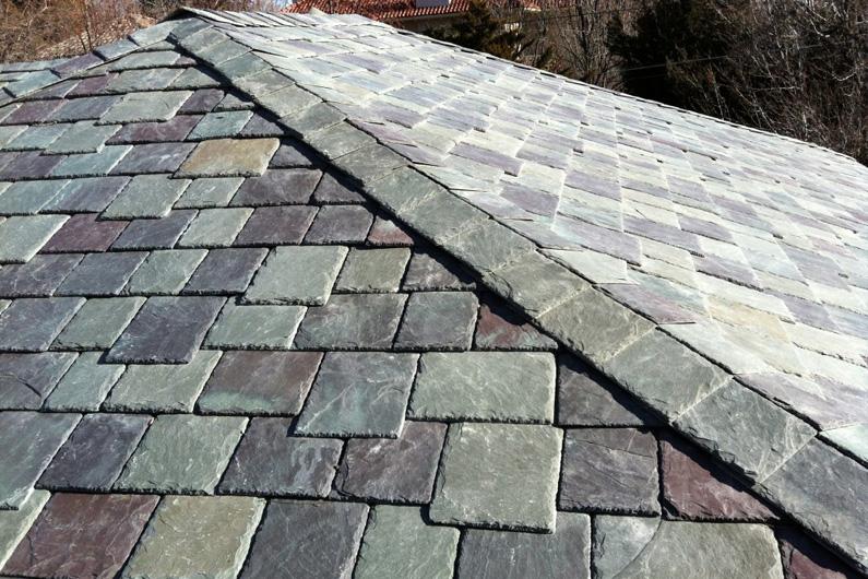 SlateTec random width slate roof