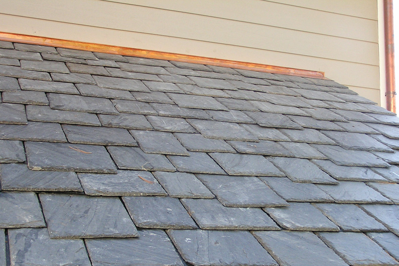 Slate Roof Installation : Slate roof installation with slatetec roofing system