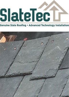 SlateTec reduced weight roof installation