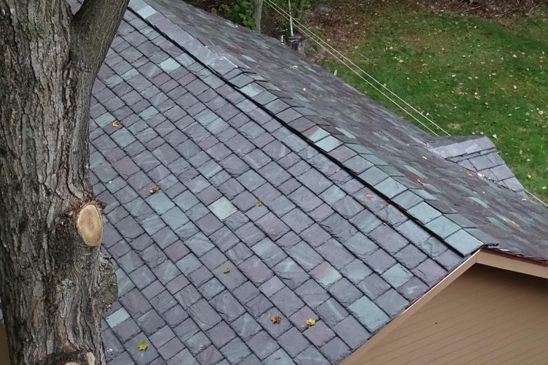 Slate roof using SlateTec slate roof installation system
