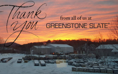 Thank you from Greenstone Slate!