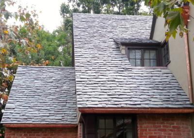 Dutch Lap Pattern Slate Roof Installation in Hancock Park